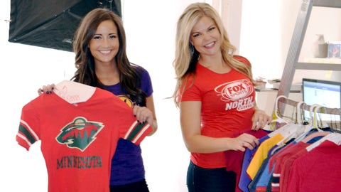 Angie and Kendall check out their wardrobes for the shoot. We can't wait to wear our Wild gear again at the X!