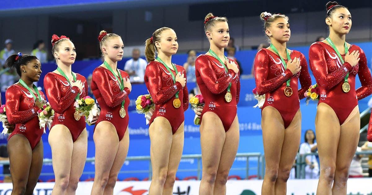Biles Leads U S Women To Team Gold At World Championshps