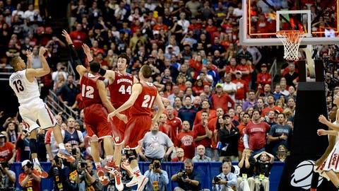 March 29: Wisconsin 64, Arizona 63 in OT (NCAA tournament Elite Eight)