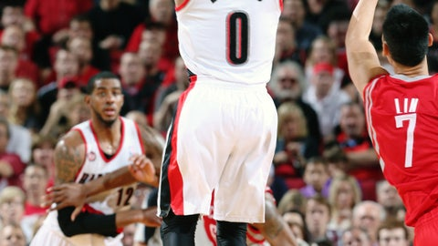 May 2: Blazers 99, Rockets 98 (NBA Western Conference playoffs, first round)