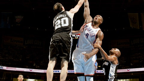 May 31: Spurs 112, Thunder 107 in OT (NBA Western Conference Finals)