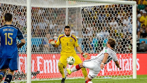 July 13: Germany 1, Argentina 0 (World Cup final)