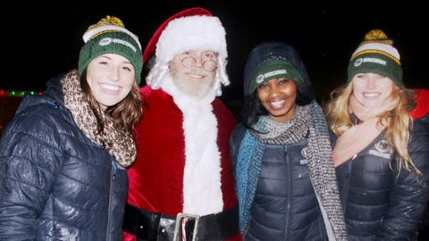 Even though the weather was frightful -- Bishara, Chyna & Sage had a delightful time helping Santa greet visitors.