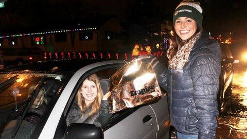 Not only did they get to see the Holiday lights, but folks checking out the decorations received Empire bags. If you're naughty or nice – you can catch the premiere on Jan. 7.