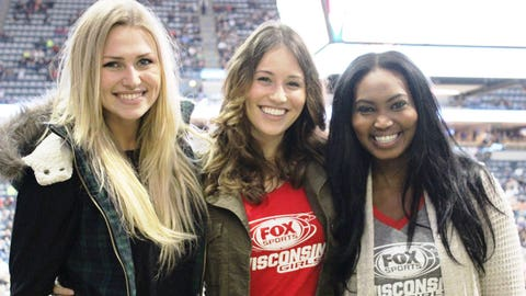 The FOX Sports Wisconsin Girls are happy to be back at the Bradley Center cheering on the Bucks!
