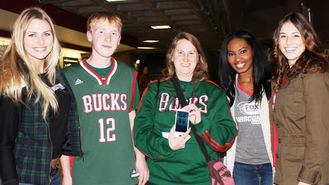 These Bucks fans can't wait to watch the team play on their phone thanks to the FOX Sports GO app.