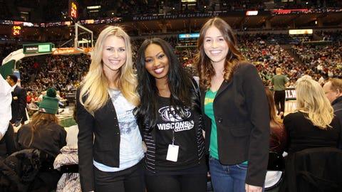 The BMO Harris Bradley Center was rocking & the FOX Sports Wisconsin Girls had a blast watching the Bucks beat the Celtics.