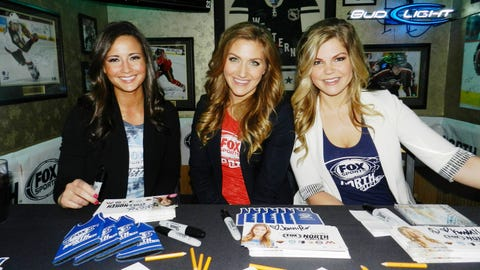 The FOX Sports North Girls hosted an HD Viewing Party at Jimmy's Food & Drink as the Timberwolves took on the Rockets.