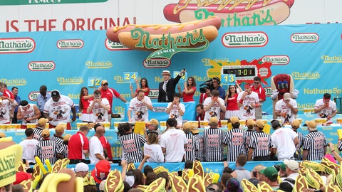 They ate, they conquered: On the scene at Nathan's Famous Hot Dog Eating Contest