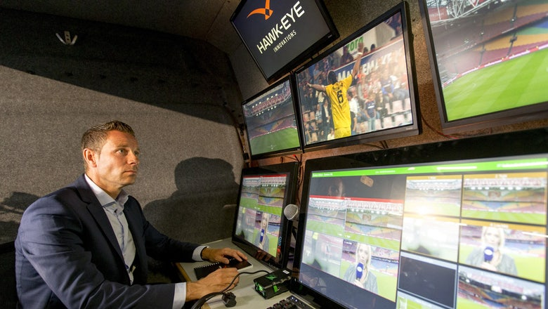 Watch FIFA use video replay for the first time to give a penalty