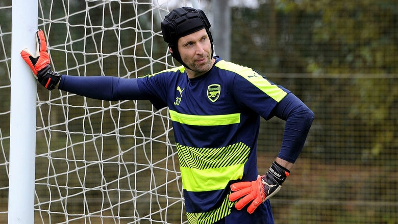 Petr Cech channels his inner Snoop Dogg to help sell helmet-shaped winter hats