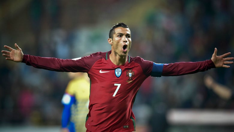 Cristiano Ronaldo scores a beauty as Portugal rout Faroe Islands
