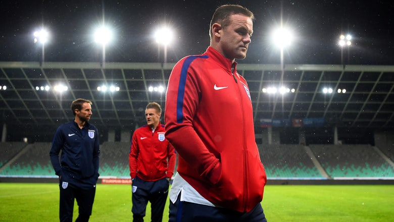 Wayne Rooney dropped from England's starting lineup for Slovenia match