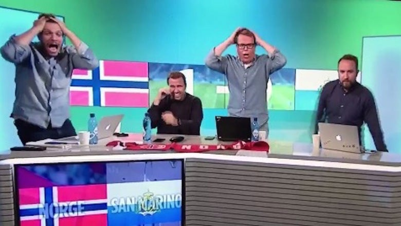 The only thing better than San Marino's rare goal was the reaction of these TV pundits