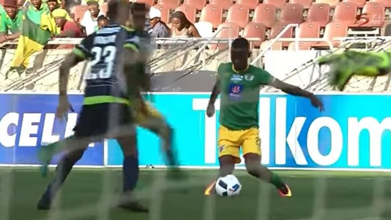 South African player carded for showboating his 'Kasi flavor'