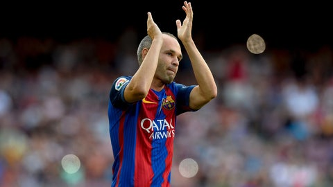 Andres Iniesta - 123 appearances*