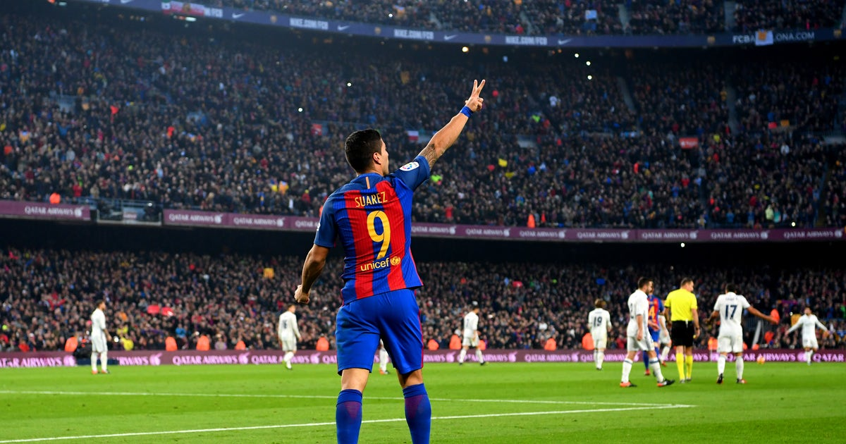 Watch Luis Suarez Score Against Real Madrid Again To Continue Clasico Stardom Fox Sports