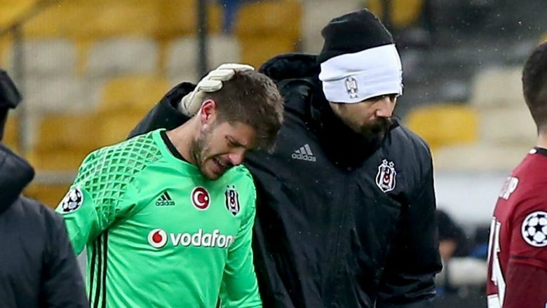 Besiktas' blowout loss against Dynamo Kiev brought goalkeeper Fabricio to tears