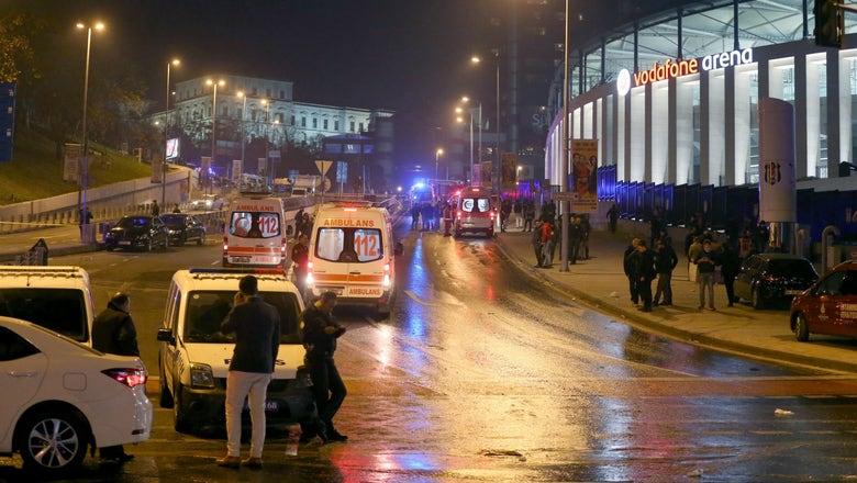 Explosions outside Besiktas stadium kill 15, wound dozens, Turkish official says