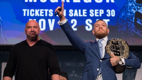 Conor McGregor sets September date for mega clash with Floyd Mayweather