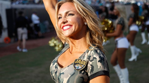 Jacksonville Jaguars cheerleader