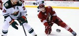 Coyotes concede three in third, fall to Wild