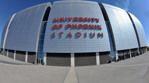 Nov 14, 2010; Glendale, AZ, USA; General view of the University of Phoenix Stadium exterior before the NFL game between the Seattle Seahawks and the Arizona Cardinals. Mandatory Credit: Kirby Lee/Image of Sport-USA TODAY Sports