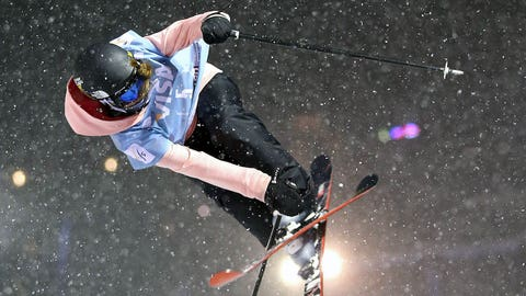 COPPER MOUNTAIN, CO - DECEMBER 20:  Maddie Bowman competes during finals for the womens FIS Ski Halfpipe World Cup at U.S. Snowboarding and Freeskiing Grand Prix on December 20, 2013 in Copper Mountain, Colorado.  (Photo by Mike Ehrmann/Getty Images)
