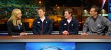 Parise, Suter visit FOX Sports in Sochi