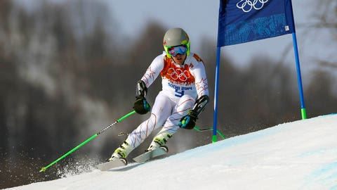 Feb 16, 2014; Krasnaya Polyana, RUSSIA; Ted Ligety (USA) competes in the men's alpine skiing super-G during the Sochi 2014 Olympic Winter Games at Rosa Khutor Alpine Center. Mandatory Credit: Nathan Bilow-USA TODAY Sports
