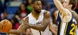 Evans' big night helps Pelicans past Jazz