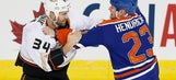 Ducks edged out in OT vs. Oilers