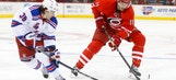 Hurricanes upend Rangers at home