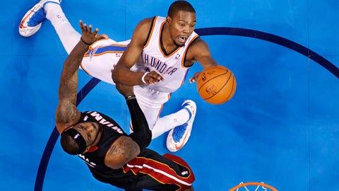 Playoff year No. 7 (Jordan: 1992; James: 2012)