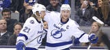 Stamkos gets hat trick as Lightning defeat Maple Leafs