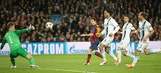 Messi puts Barcelona ahead 1-0