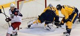 Preds come up short vs. Blue Jackets