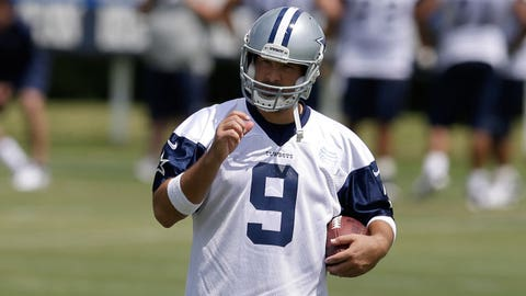 Tony Romo, QB, Cowboys (back): Questionable