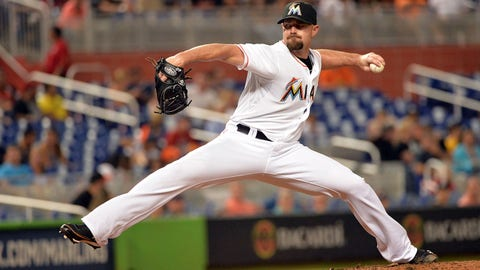 Jun 2, 2014; Miami, FL, USA; Miami Marlins relief pitcher Mike Dunn (40) delivers a pitch during the eighth inning against the Tampa Bay Rays at Marlins Ballpark. Mandatory Credit: Steve Mitchell-USA TODAY Sports