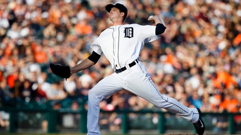 Jun 6, 2014; Detroit, MI, USA; Detroit Tigers starting pitcher Drew Smyly (33) pitches in the first inning against the Boston Red Sox at Comerica Park. Mandatory Credit: Rick Osentoski-USA TODAY Sports