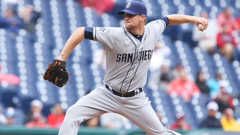 Jun 12, 2014; Philadelphia, PA, USA; San Diego Padres relief pitcher Troy Patton (29) pitches during the eighth inning a game against the Philadelphia Phillies at Citizens Bank Park. The Phillies won 7-3. Mandatory Credit: Bill Streicher-USA TODAY Sports