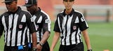 Female ref Thomas works Browns mini-camp