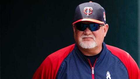 Jun 15, 2014; Detroit, MI, USA; Minnesota Twins manager Ron Gardenhire (35) in the dugout during the seventh inning against the Detroit Tigers at Comerica Park. Mandatory Credit: Rick Osentoski-USA TODAY Sports
