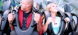 Molly McGrath, Mike Hill ride roller coaster at ASG