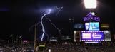 Padres top Rockies after storm delay