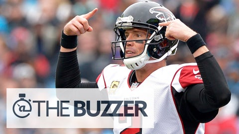 CHARLOTTE, NC - NOVEMBER 16:  Matt Ryan #2 of the Atlanta Falcons calls an audible against the Carolina Panthers in the 2nd quarter during their game at Bank of America Stadium on November 16, 2014 in Charlotte, North Carolina.  (Photo by Grant Halverson/Getty Images)
