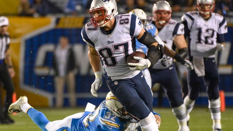 October 29: Los Angeles Chargers at New England Patriots, 1 p.m. ET
