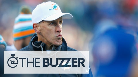 FOXBORO, MA - DECEMBER 14:  Head coach Joe Philbin of the Miami Dolphins looks on during the second quarter against the New England Patriots at Gillette Stadium on December 14, 2014 in Foxboro, Massachusetts.  (Photo by Jim Rogash/Getty Images)