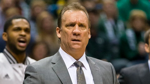 Jan 9, 2015; Milwaukee, WI, USA; Minnesota Timberwolves head coach Flip Saunders reacts to a call during the first quarter against the Milwaukee Bucks at BMO Harris Bradley Center. Mandatory Credit: Jeff Hanisch-USA TODAY Sports