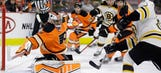 Pastrnak nets 2 goals in Bruins' win over Flyers